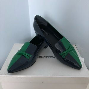 WOMENS EMPORIO ARMANI LEATHER LOAFER SHOES US 7N